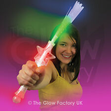 Wholesale Light Up Flashing Fibre Optic Torch Star Wand Novelty