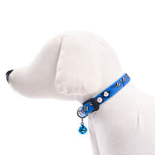Pet Cat Collar Adjustable Kitten Leash Fashion Solid Flexible Collar With Bell