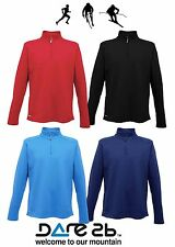 Dare2b Distribute Mens Half Zip Stretch Warm Backed Top Mid-Layer Cycle Jacket