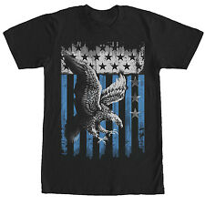 Lost Gods Majestic Eagle American Flag Mens Graphic T Shirt