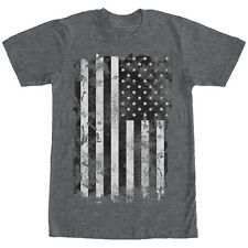 Lost Gods Distressed American Flag Mens Graphic T Shirt
