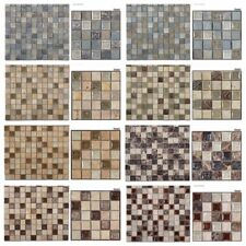 1x1 mini Glass Tile Serie Backsplash Shower Mosaic Stone Glass Glazzio