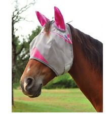 Cashel Crusader Standard Fly Mask w/ Ears for Horse - Pink - 2 Sizes