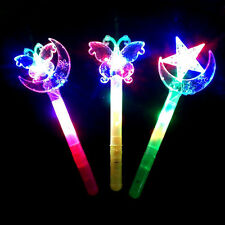 Light-Up Princess Wand Fairy LED Magic Moon Star Butterfly Stick Flashing