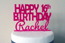 Birthday Cake Topper 16th 18th 21st Party Decor Name Custom Made Personalised