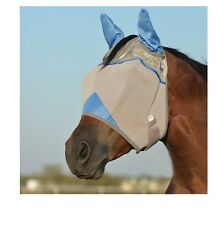 Cashel Crusader Fly Mask w/ ears for Horses - Orange - 2 Sizes - comfortable fit
