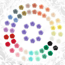 FREE SHIP 27 Colors Resin Flowers Cameos Fit Cabochons Settings Flatback 18*18mm
