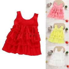 Princess Girls Kid Tutu Cake Dress Sundress Toddlers Newborns Party Ruffle Skirt