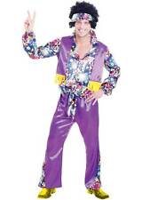 Adult Mens Groovy Hippy Outfit 60s 70s Fancy Dress Hippie Disco Party Costume