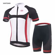 XINTOWN Men Cycling Bike Bicycle Sports Clothing Short Sleeve Jersey Bib Shorts
