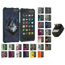 For Amazon Fire Phone Hard Design Skin Case Cover Accessories Wall Charger