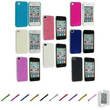 For iPhone 4 4S Bling Glitter Ultra Thin Hard Case Cover+Screen Protector