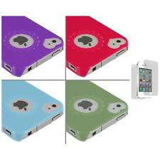 Heart Love Pattern Ultra Thin Hard Cover Case+Screen Protector for iPhone 4G 4S