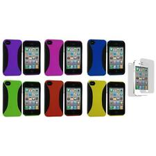 Color Hybrid Hard/TPU Case Cover+Screen Protector for iPhone 4 4S 4G