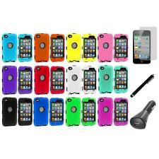 Deluxe Color Hybrid Case Cover+Guard+LCD+Charger+Pen for iPod Touch 4th Gen 4G
