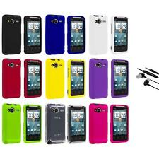 Color Hard Snap-On Case Cover+Earphone Mic for HTC EVO Shift 4G Phone Accessory