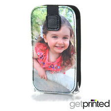 Personalised Leather Slip Phone Cover Case Custom Sock Pouch Create Your Own