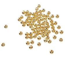 Gold Copper Round 100pcs Spacer Beads Craft for DIY bracelet Necklace Making