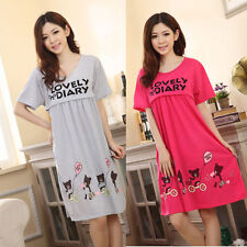 Casual Pregnant Women Large Cute Bear Lactation Nursing Clothes Maternity Dress