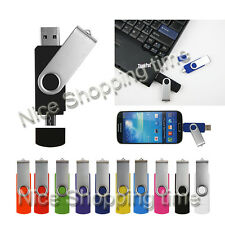 USB 2.0 Drive Flash Memory Stick OTG 2*PORTS For Smart Phone PC Tablet 32GB 16GB