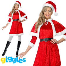Ladies Miss Santa Costume Mrs Claus Father Christmas Sexy Fancy Dress Outfit