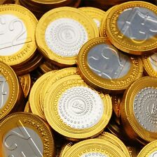 Milk Chocolate £2 Two Pounds Foiled Covered Money Coins Sweets Quantity 10 - 150