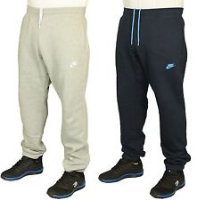 MENS NIKE JOGGERS RUNNING GYM BOTTOMS IN LIGHT GREY & NAVY COLOURS SIZES S TO XL