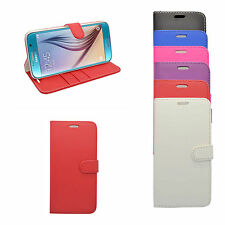 SAMSUNG GALAXY S7 WALLET BOOK FLIP CASE IN VARIOUS COLOURS FREE SCREEN PROTECTOR