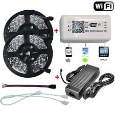 5M 10M SMD 5050 RGB LED Strip Light +Wifi Remote Controller By Phone APP + Power