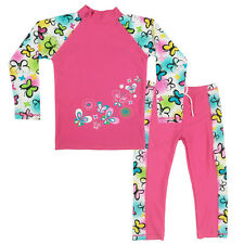 Girl Swimsuit Flower UPF 50+ UV Protective Swimwear Seaside Surfing Bather 3-10Y