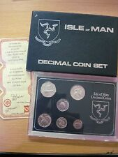 Isle of Man 1976 Sterling Silver 6 Decimal Coin Set  Pobjoy with Certificate