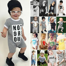 Summer Newborn Boys Girls Romper Bodysuit Jumpsuit Playsuit Baby Clothes Outfits