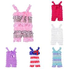 Summer Infants Baby Girls Petti Ruffle Romper Toddler Lace Outfits Newborn to 3Y