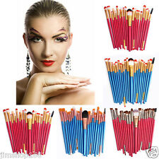 20 pcs Pro Makeup Brush Set Tools Make-up Toiletry Kit Wool Make Up Brush Set UK