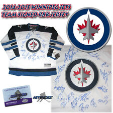 2015 WINNIPEG JETS Team Signed RBK Hockey JERSEY w/COA - LADD - BYFUGLIEN