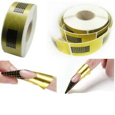 500pcs Nail Art Tips Extension Forms Guide Square French DIY Tool Acrylic UV Gel