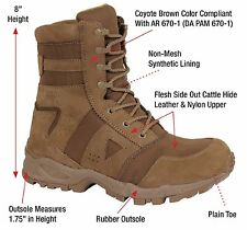 "Coyote Brown AR 670-1 Forced Entry 8"" Military Tactical Boots 5-13"