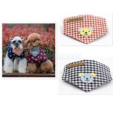 20-40cm Puppy Pet Dog Cat Bandana Scarf Neckerchief Bib Triangle Plaid Towel