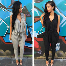New Women Bandage Bodycon Sexy Clubwear Romper Jumpsuit Dress Party V Neck Pants