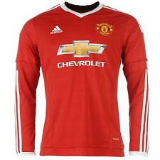 Adidas Manchester United FC Home Jersey 2015 2016 Long Sleeved Mens Red Football