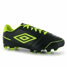 Umbro Premio Firm Ground Mens Football Boots Black/Yell/White Soccer Footwear