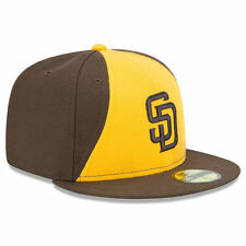 New Era 5950 SAN DIEGO PADRES Alternate 2 Yellow Cap Fitted MLB Baseball Hat '16