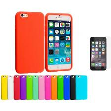 For Apple iPhone 6 (4.7) Silicone Case Cover+Anti Glare Screen Protector