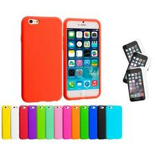 For Apple iPhone 6 (4.7) Silicone Case Cover+3X Anti Glare Screen Protector