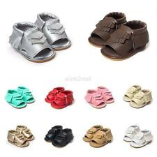 Fashion Girls Toddler Baby Soft Leather Non-Slip Crib Shoes Summer Sandals Shoes