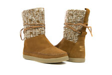 Toms Women Nepal Cable Knit Suede Boot CHESTNUT 10003517
