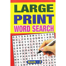 1 x LARGE PRINT WORD SEARCH A4 PUZZLE BOOKS ADULT TRAVEL 74 PAGES BUMPER FIND