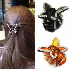 Fashion Womens Crystal Rhinestone Butterfly Claw Hairpin Hair Clamp Accessory
