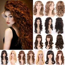 Long Curly Wavy Full Hair Wigs Cosplay Party Fancy Daily Dress Real Thick UK B6