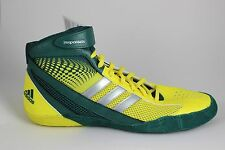 Men's Adidas Response 3.1 Wrestling Shoes Forrest/Silver/Yellow Q33805 Brand New
